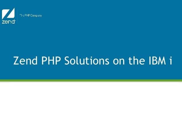 Zend Server e PHP su AS400